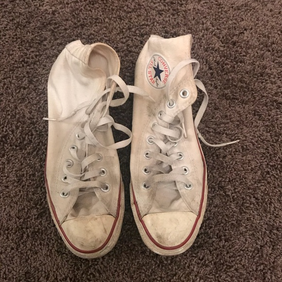 5ceafb57dd16 Converse Shoes - Worn down white converse good for activities